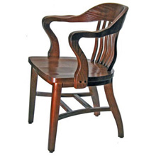 Oak Jury Chair Front View Oak Jury Chair Side View  sc 1 st  Kurt Petersen Furniture & Jury Arm Chairs - Our jury courtroom chairs and bank chairs are made ...