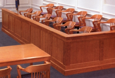 Jury Chairs Floor Mounted