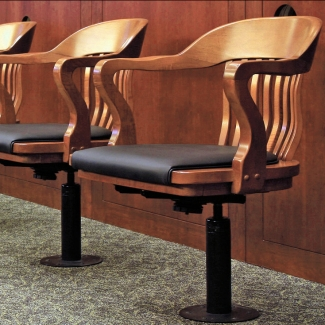 Jury Chairs Floor Mounted Detail