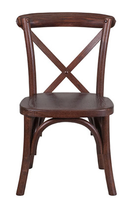 Juvenile Height Kid's Bentwood Stacking Chair Front View