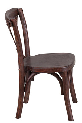 Juvenile Height Kid's Bentwood Stacking Chair Side View