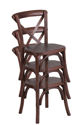 Juvenile Height Kid's Bentwood Stacking Chairs Stacked View
