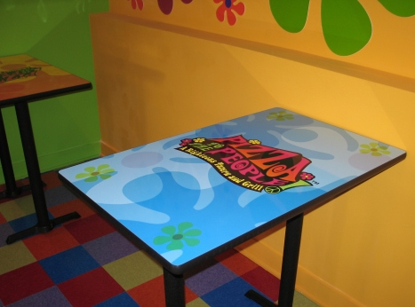 Logo Table Rectangle Psychedelic Artwork