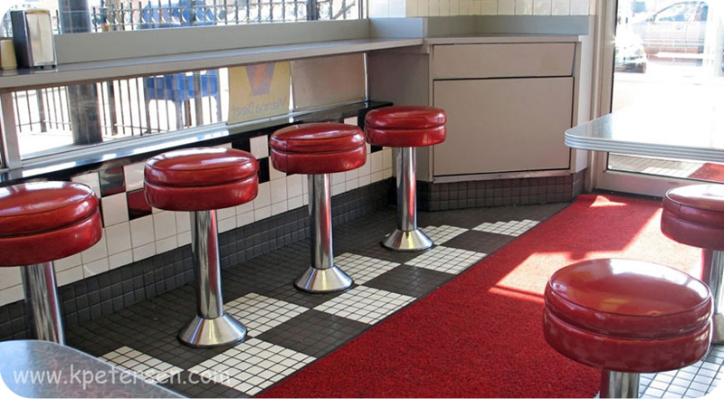 Lunch Counter Stools Installation