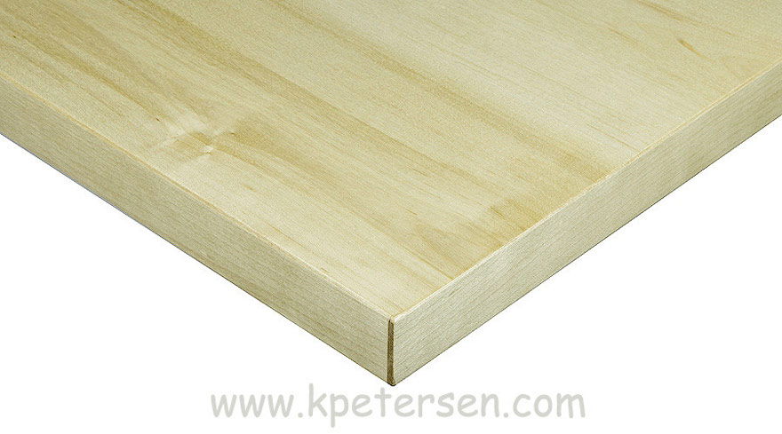 Maple Veneer Restaurant Table Corner Detail