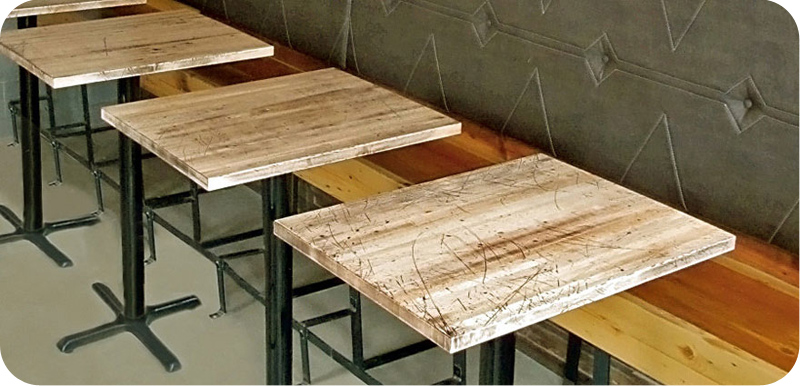 Merveilleux Solid Maple Butcherblock Restaurant Booth Tables ...