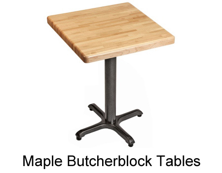 Maple Butcherblock Restaurant Table