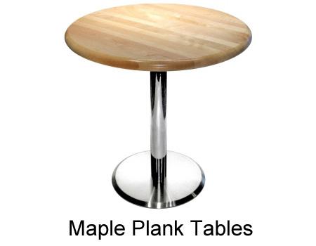 Wonderful Maple Plank Restaurant Table