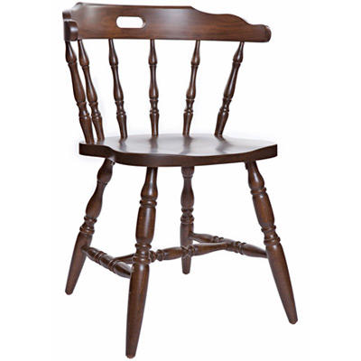 Early American, Colonial Style Wood Restaurant Dining Room Mates Chair Wood  Seat