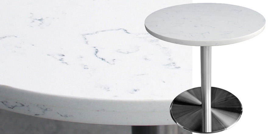 Mesa Quartz Restaurant Table - Carrera