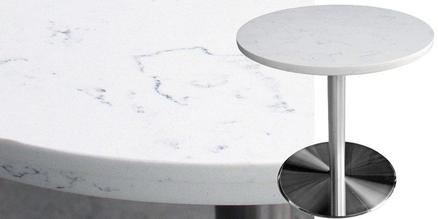 Superbe Mesa Quartz Restaurant Table   Carrera