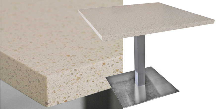 Mesa Quartz Restaurant Table - Cambrian Gold