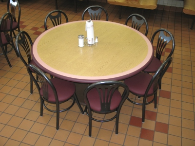 Mexican Restaurant Table Installation