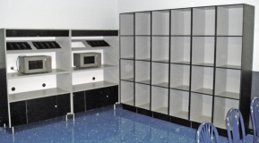 Laminated Plastic Microwave Oven Cabinets
