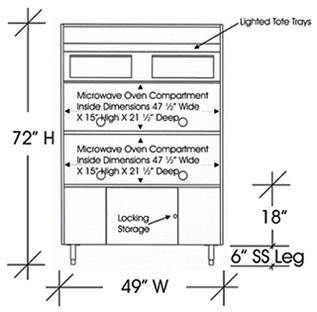 ... Drawing Microwave Cabinet For Four Microwave Ovens 72 Inches X 49 Inches