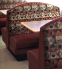 Moon Back Upholstered Restaurant Booth