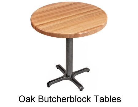 Maple Butcherblock Restaurant Tables Oak Butcherbloc Restaurant Tables