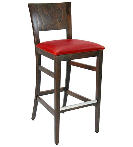 Contemporary Wood Bar Stool with Optional Uphostered Seat
