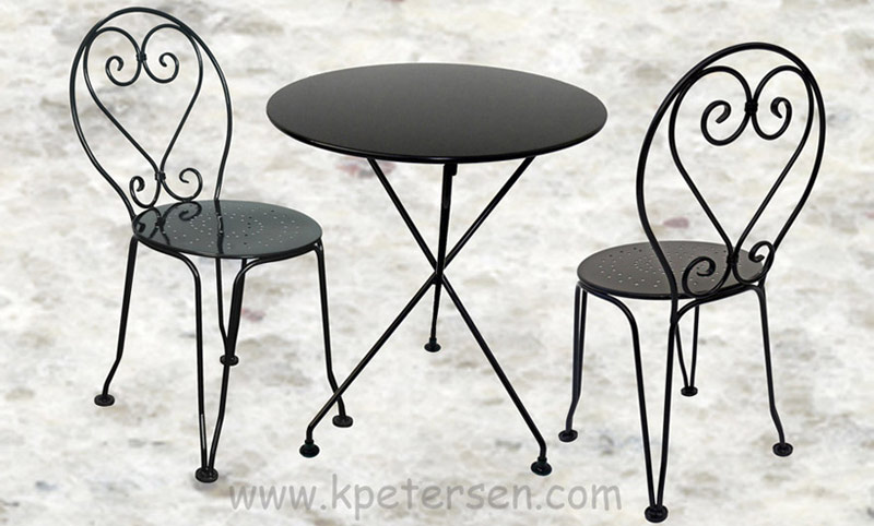 french style wrought iron ice cream chair