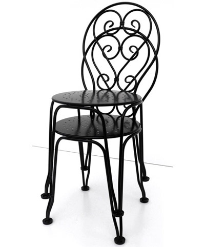 Captivating ... French Wrought Iron Ice Cream Chairs Stacked