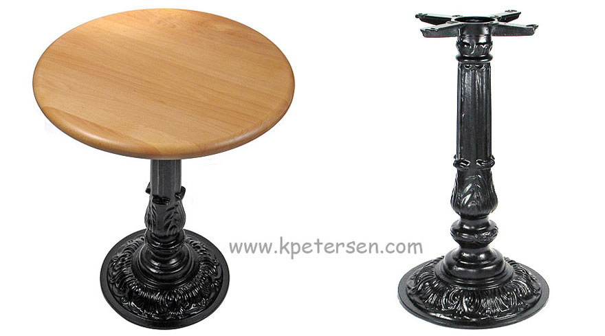 victorian style antique small round ornate cast iron table base detail photos
