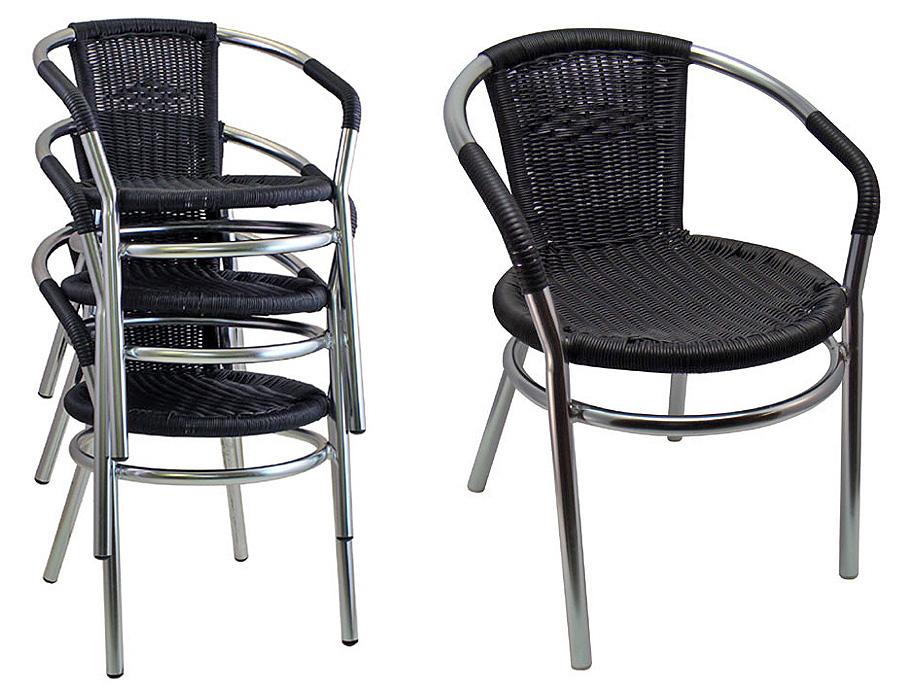 outdoor aluminum stacking restaurant arm chairs pvc wicker heavy rh kpetersen com