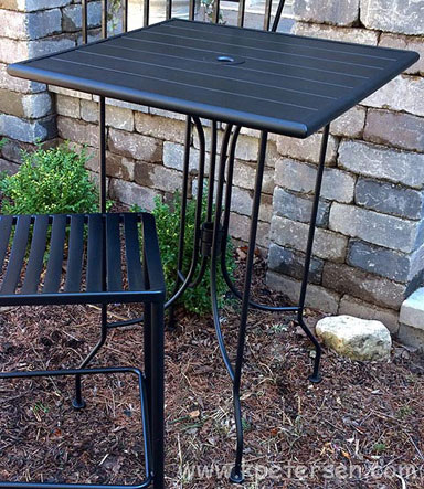Outdoor Steel Bar Table Detail