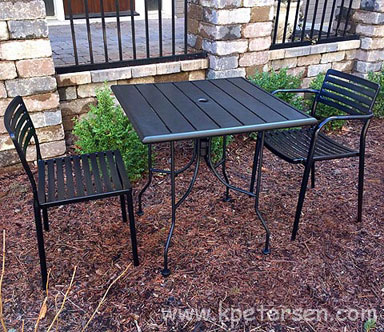 Modern Outdoor Steel Table Dining Height