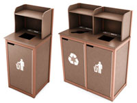 restaurant trash can cabinet cafeteria and restaurant waste receptacles recycling 25522