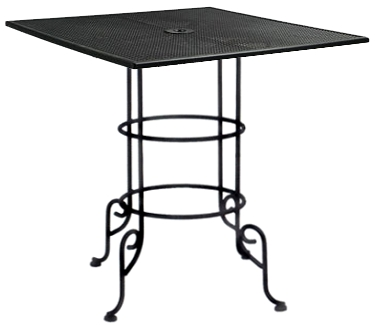 Large Wrought Iron Outdoor Bar Table 36 inch Square