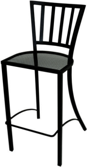 Outdoor Chairs and Bar Stools - Contemporary Wrought Iron
