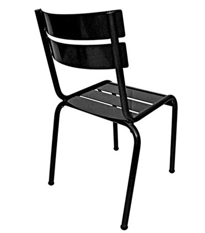 Parisian Park Style Steel Stacking Chair Rear Side View