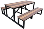 Outdoor Steel Folding Table 36 X 48 Inches