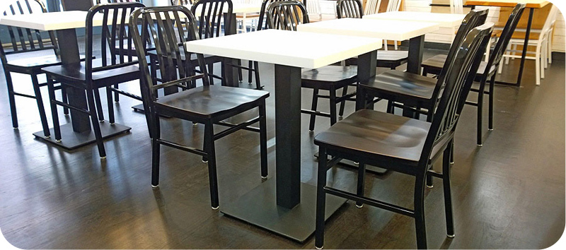 Heavy Steel Plate Restaurant Table Base Price List - Restaurant table price