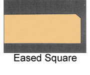Powdercoated MDF Core Restaurant Table Top Edge Profile Option Eased Square