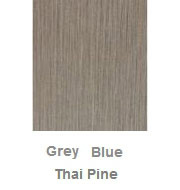Powdercoated MDF Core Restaurant Table Top Color Option Thai Pine Grey Blue