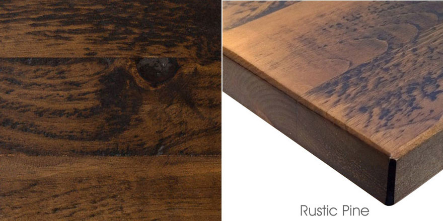 Mixed Plank Rustic Pine Quick Ship Restaurant Tables