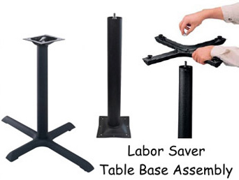 Steel And Cast Iron Restaurant Table Bases For Rectangular Tops