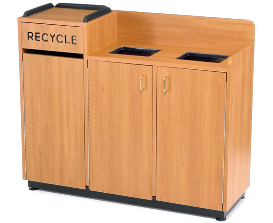 Recycle Waste Receptacle Center