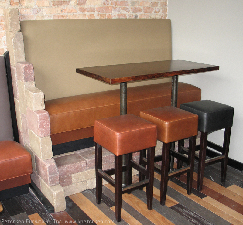 Bar Height Restaurant Booth Banquette