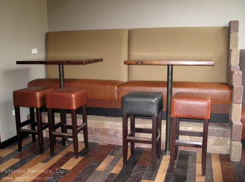 Bar Height Restaurant Booth Banquette Installation