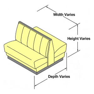 Dimensions will vary by booth style drawing 2