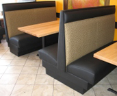 High Back Deluxe Plain Restaurant Booth with Headroll
