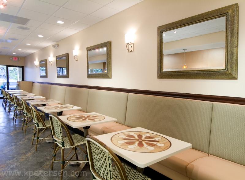 Plainback Restaurant Booth Banquette 42 Inch High