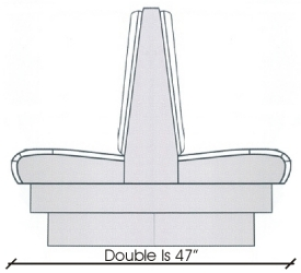 Upholstered Booth Elevation Drawing Double