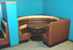 Custom Horizontal Channel Back Three Quarter Circle Booth