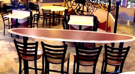 Elliptical Oval Table Installation