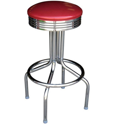 Retro Chrome Bar Stool Seat Detail Retro Chrome Bar Stool All Welded Steel Frame Inch Seat Height