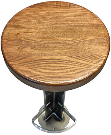 Amazing Rust Belt Industrial Wood Seat Soda Fountain Counter Stool Alphanode Cool Chair Designs And Ideas Alphanodeonline