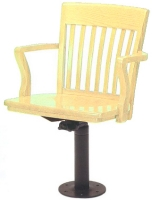School House Chair with Jury Base Yellow